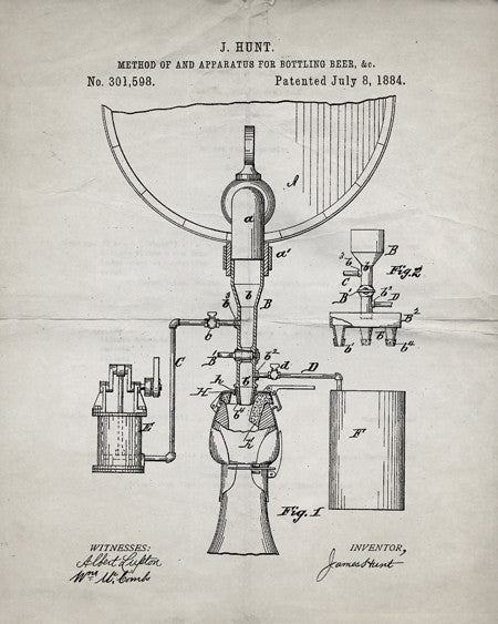 Beer Bottling Patent Print - IndustrialPrints