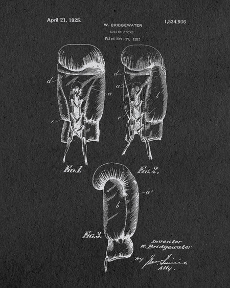 Boxing Gloves Patent Print - IndustrialPrints