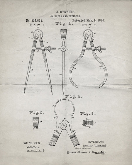 Calipers Patent Print - IndustrialPrints