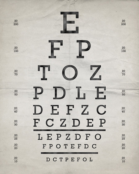 Vintage Eye Chart Print - IndustrialPrints