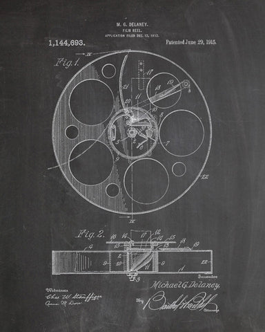 Film Reel Patent Print - IndustrialPrints