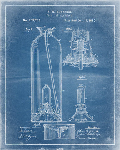 Fire Extinguisher Patent Print - IndustrialPrints