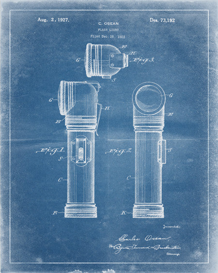 Flash Light Patent Print - IndustrialPrints