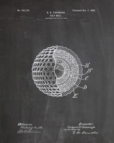Golf Ball Patent Print - IndustrialPrints