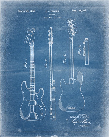 Guitar Patent Print - IndustrialPrints