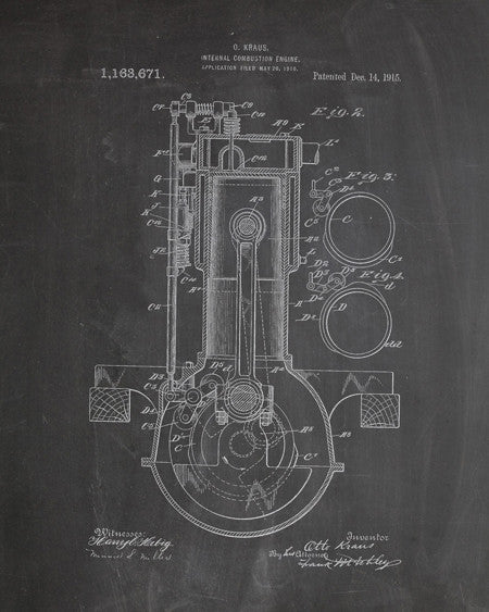 Engine Patent Print - IndustrialPrints