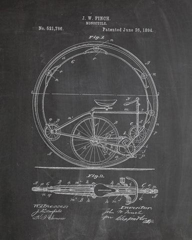 Monocycle Patent Print - IndustrialPrints