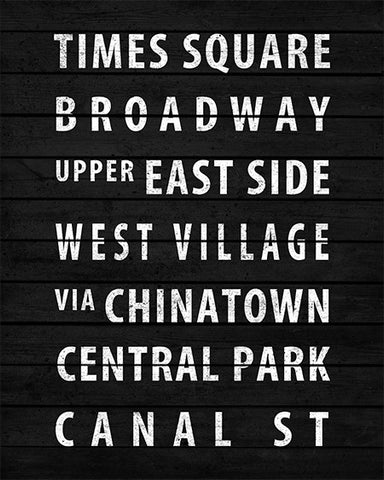 Vintage New York Subway Sign Print - IndustrialPrints