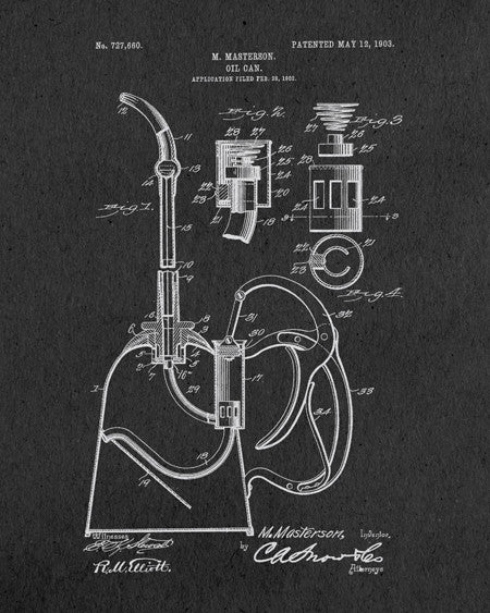Oil Can Patent Print - IndustrialPrints