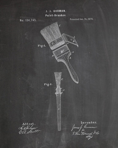 Paint Brush Patent Print - IndustrialPrints