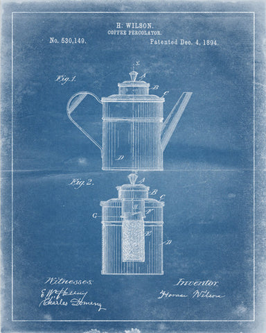 Coffee Maker Percolator Patent Print - IndustrialPrints