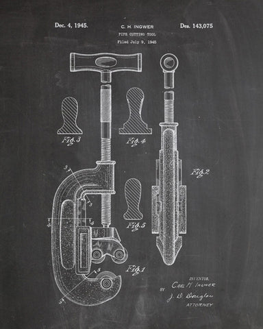 Pipe Cutter Patent Print - IndustrialPrints