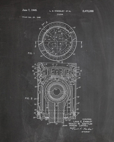 Piston Patent Print - IndustrialPrints