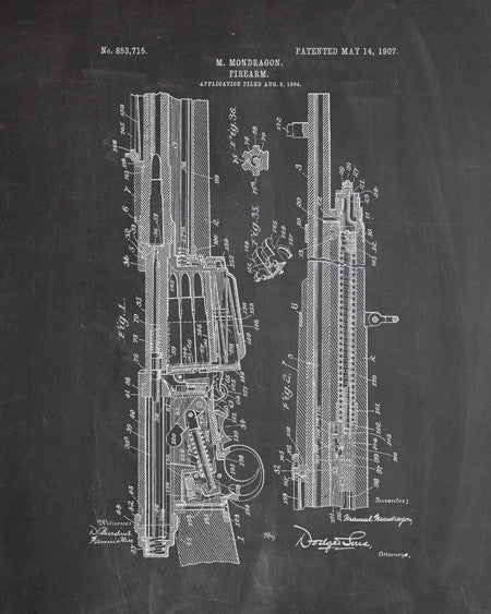 Rifle Patent Print - IndustrialPrints