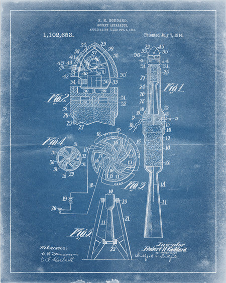 Rocket Patent Print - IndustrialPrints