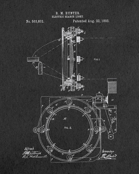 Search Light Patent Print - IndustrialPrints