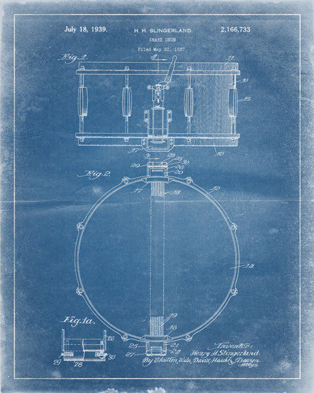 Snare Drum Patent Print - IndustrialPrints