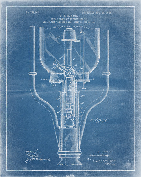 Street Light  Patent Print - IndustrialPrints