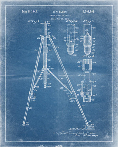 Camera Tripod Patent Print - IndustrialPrints