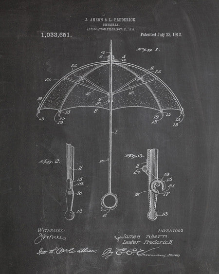 Umbrella Patent Print - IndustrialPrints