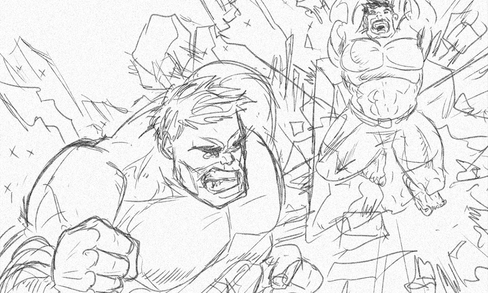 The Hulk Sketch