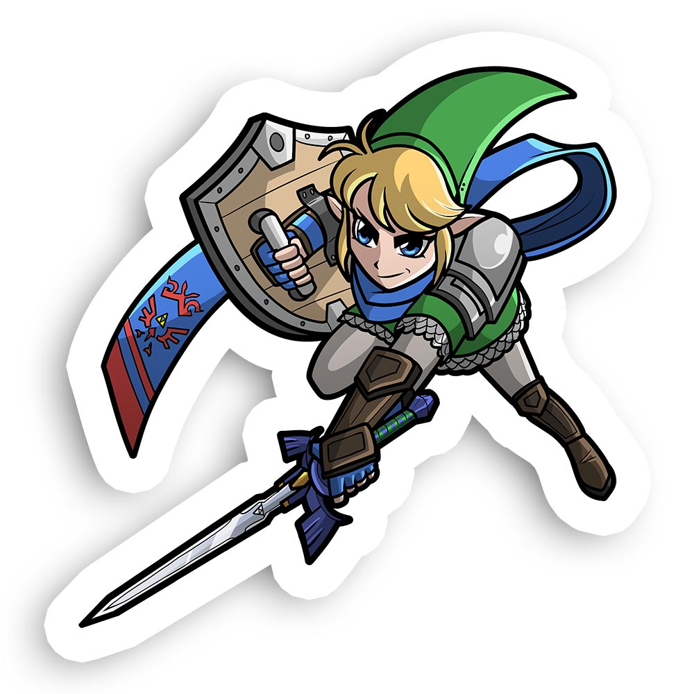 Hyrule Warriors Link Sticker