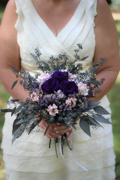 Plum and Grey Bouquet - Pick a Bloom LLC