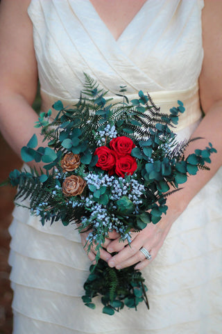 Winter Berry Bridal Bouquet - Pick a Bloom LLC