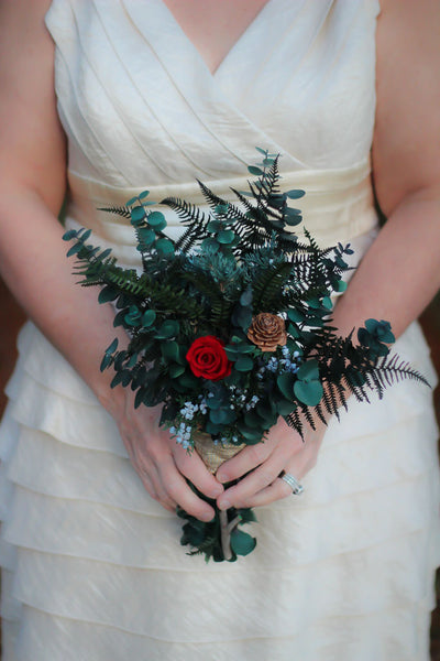 Winter Berry Bridesmaid Bouquet - Pick a Bloom LLC