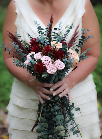 Mimi Fran Blush Bridal Bouquet - Pick a Bloom LLC