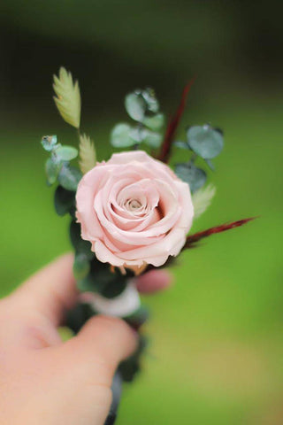Mimi Fran Blush Boutonnière - Pick a Bloom LLC