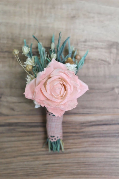 Sandra Rue Boutonnière - Pick a Bloom LLC