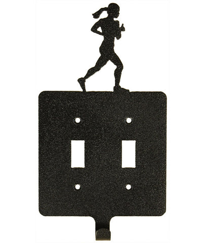 Girl Runner Dbl Switch Plate