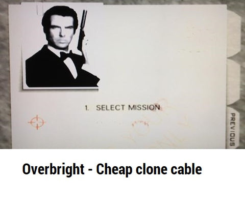 N64 Overbright picture Goldeneye cable