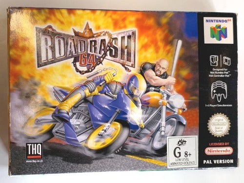 Game | Nintendo 64 N64 | Road Rash 64