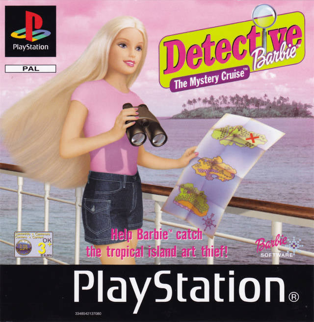 Game | Sony Playstation PS1 | Detective Barbie The Mystery Cruise