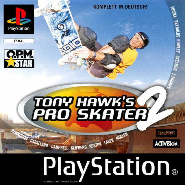 Game | Sony Playstation PS1 | Tony Hawk's Pro Skater 2
