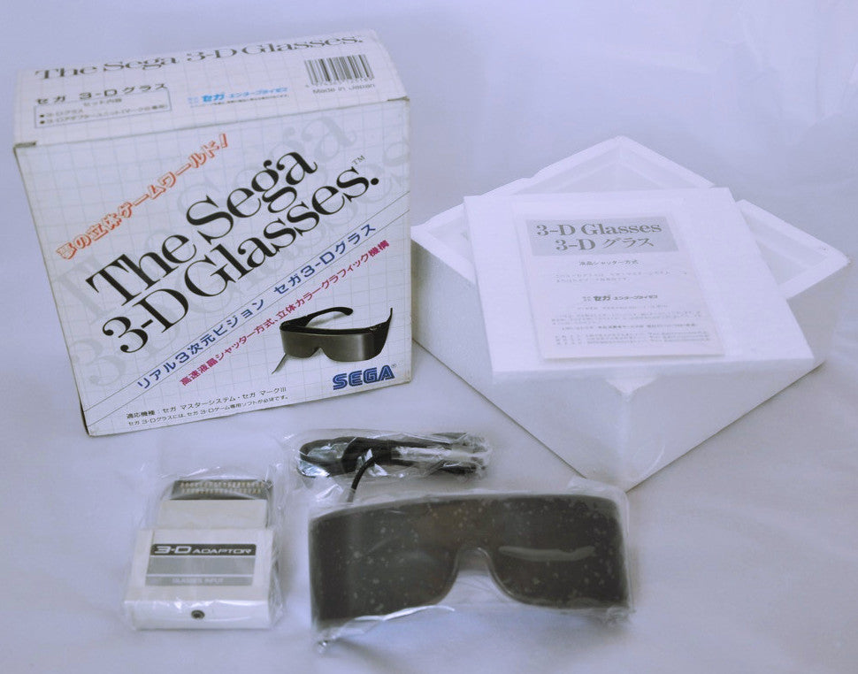 SEGA Master System Mark III 3D Glasses in box