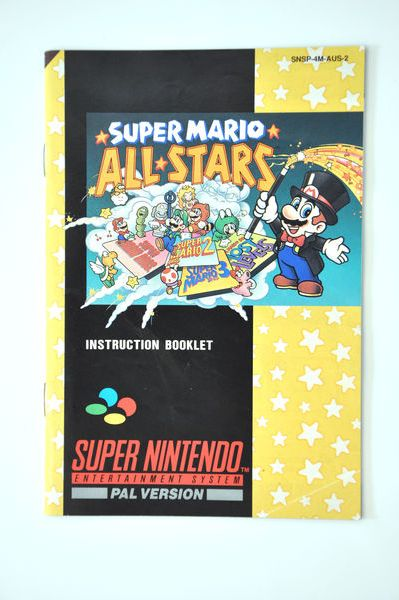 Manual | Nintendo SNES | Replacement Instruction Manuals Book