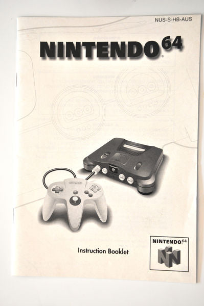 Manual | Nintendo N64 | Replacement Instruction Manuals Book