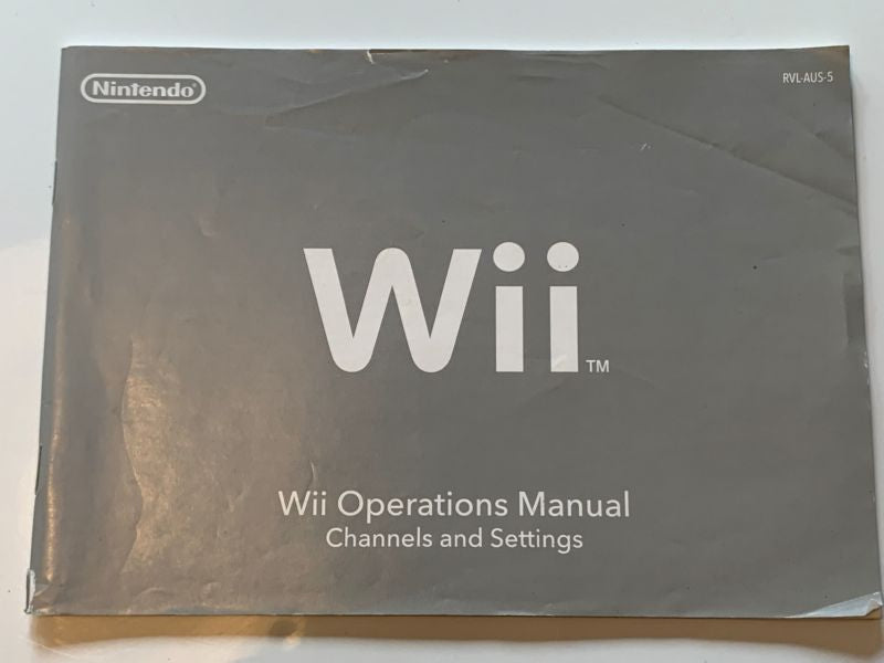Manual | Nintendo Wii | Replacement Instruction Manuals Book