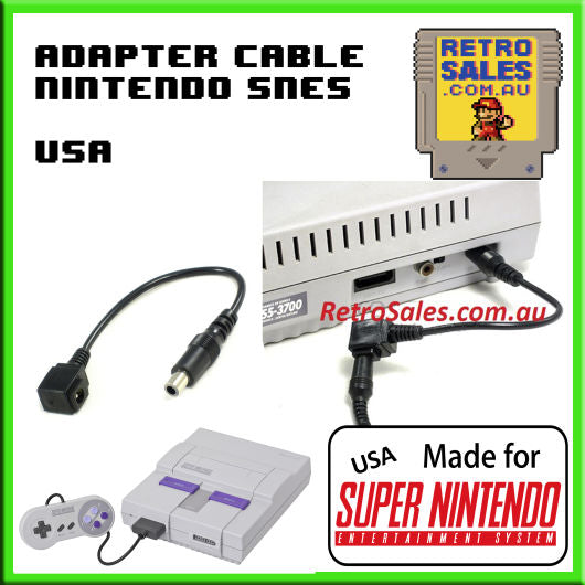 Accessory | USA Super Nintendo | Power Adapter Cable for USA Super Nintendo SNES NTSC-U