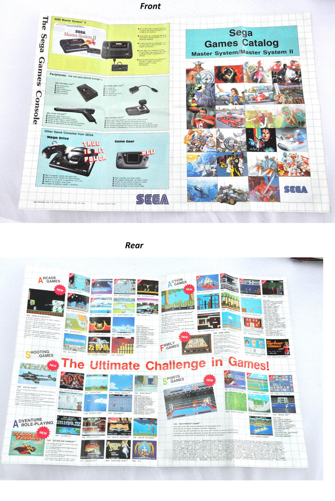 Manual | SEGA Master System | Replacement Instruction Manuals Book
