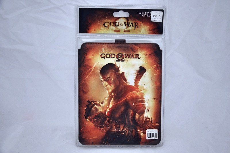 "GOD OF WAR IPAD 10"" Tablet Leather Sleeve Pouch Case Cover Genuine Sony Playstation"