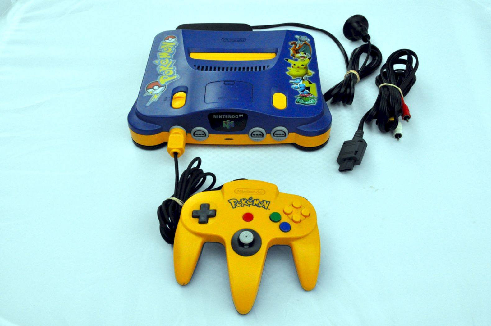 Console - Console | Nintendo 64 | N64 Pokemon Special Edition Console NUS-001 + Controller