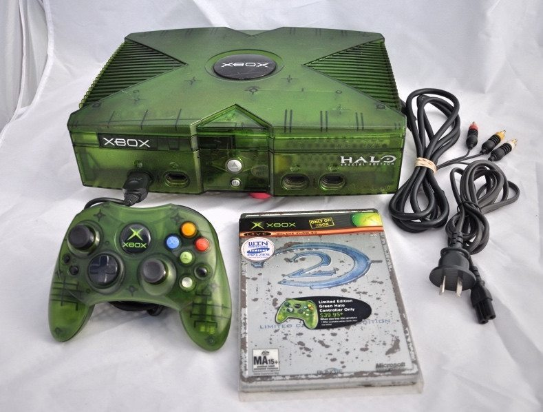 Xbox Halo Console Limited Edition Unmodified