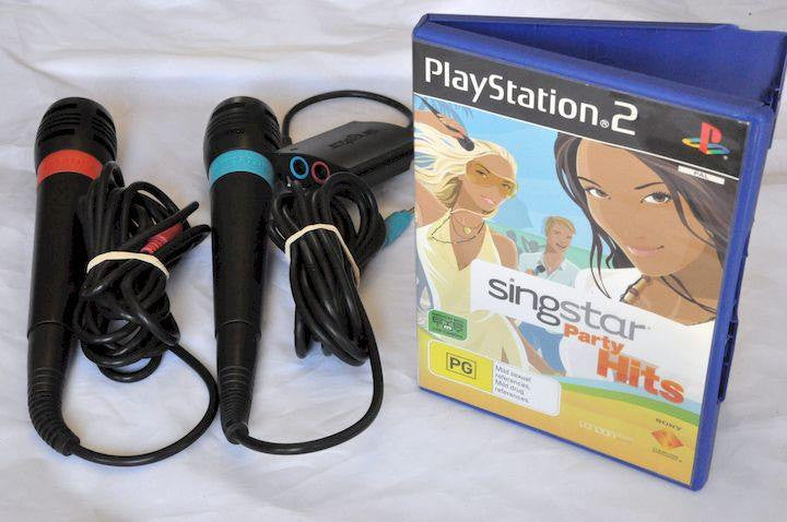 Accessory | PS2 | Singstar Microphone Set with Game