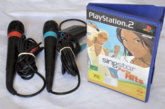 Controllers & Attachments - Accessory | PS2 | Singstar Microphone Set With Game