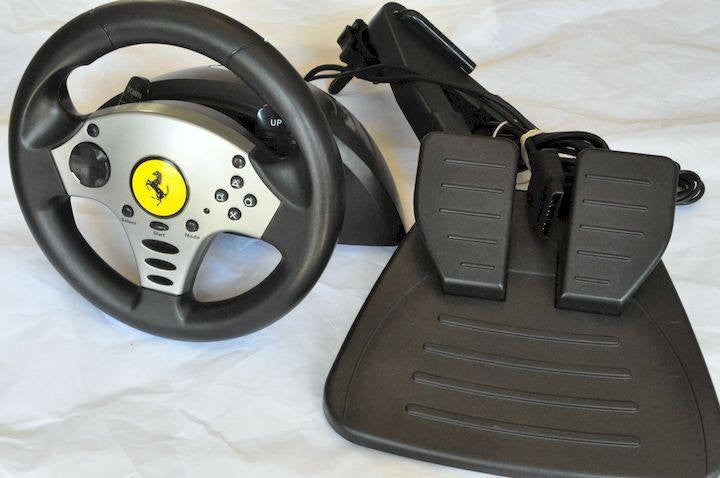 Controllers & Attachments - Accessory | PS2 | Thrustmaster Ferrari Challenge Racing Steering Wheel & Pedals