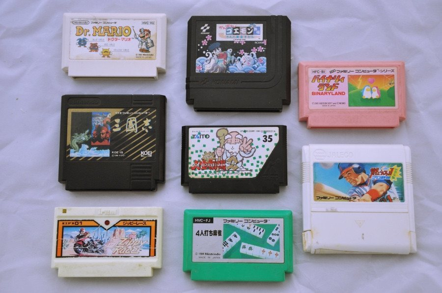 Game | Nintendo Famicom | Bundle Mixed Dr. Mario Zippy Race Binary Land x 8